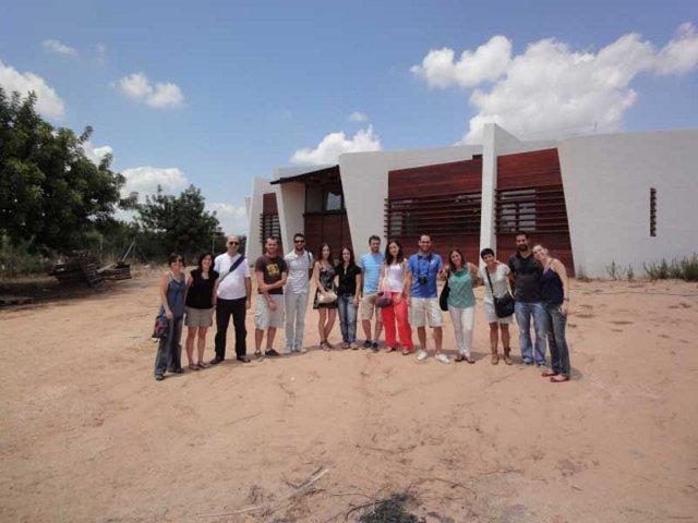 Visita Alumnos M.A.S. Obras de la Vivienda autosuficiente Ramat Eco-House